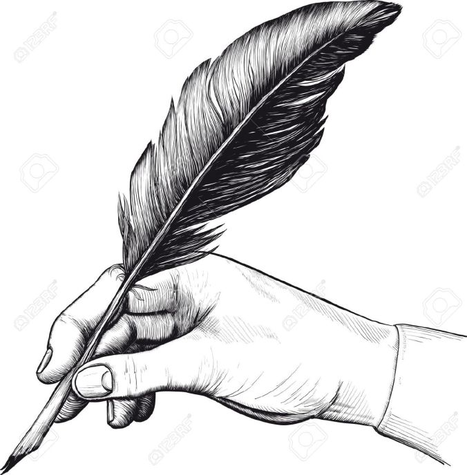 9833630-vintage-drawing-of-hand-with-a-feather-pen-in-style-of-an-engraving-stock-vector
